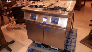 Electrolux stainless steel twin tank gas Fat Fryer (disconnected)