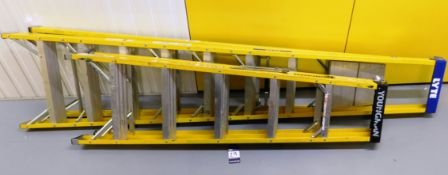 2x Various Height Yellow Step Ladders (2.44m & 1.4