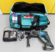 Makita LXT DHR202 Hammer Drill with Makita 18v Bat