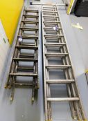 2x Various Height Triple Extension Ladders (1 with