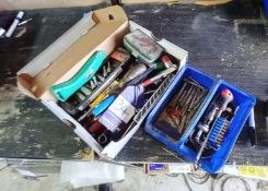 Assortment of various hand tools, to include spann