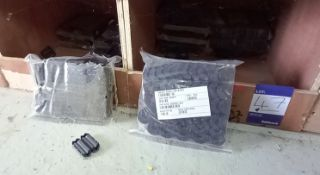 Quantity of Ferite clip on loom components, approx