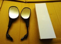 3 x Boxes of plastic scooter mirrors, all e-marked