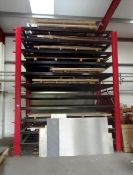 Eleven Tier Sheet Metal Stock Rack, Approximately (4m x 3.5m x 2m) (Viewing Recommended) (
