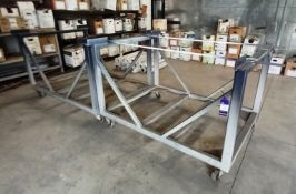 2x Mobile Powder Coating Frames, Approximately (1640 x 1340 x 1120mm)