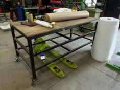 4x Various Sized Mobile Work Benches, Approximate Sizes (2450 x 900mm), (1500 x 950mm), 2x (1950 x