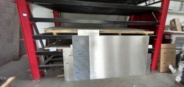 Large Quantity of Various Type, Size and Thickness Sheet Metal Stock. To Include: Quantity of