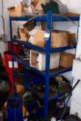 5 Tier Shelving Unit with Contents