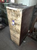 Metal 4-Drawer Filling Cabinet with Contents inc. Bolts, Fixings etc.