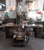 TOS FA4AV Vertical Milling / Boring Machine, S/n 61299
