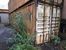 Steel Storage Container, 40FT with Contents (viewi