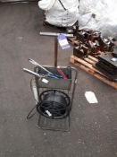 Nylon Strapping Machine Cart with Associated Hand