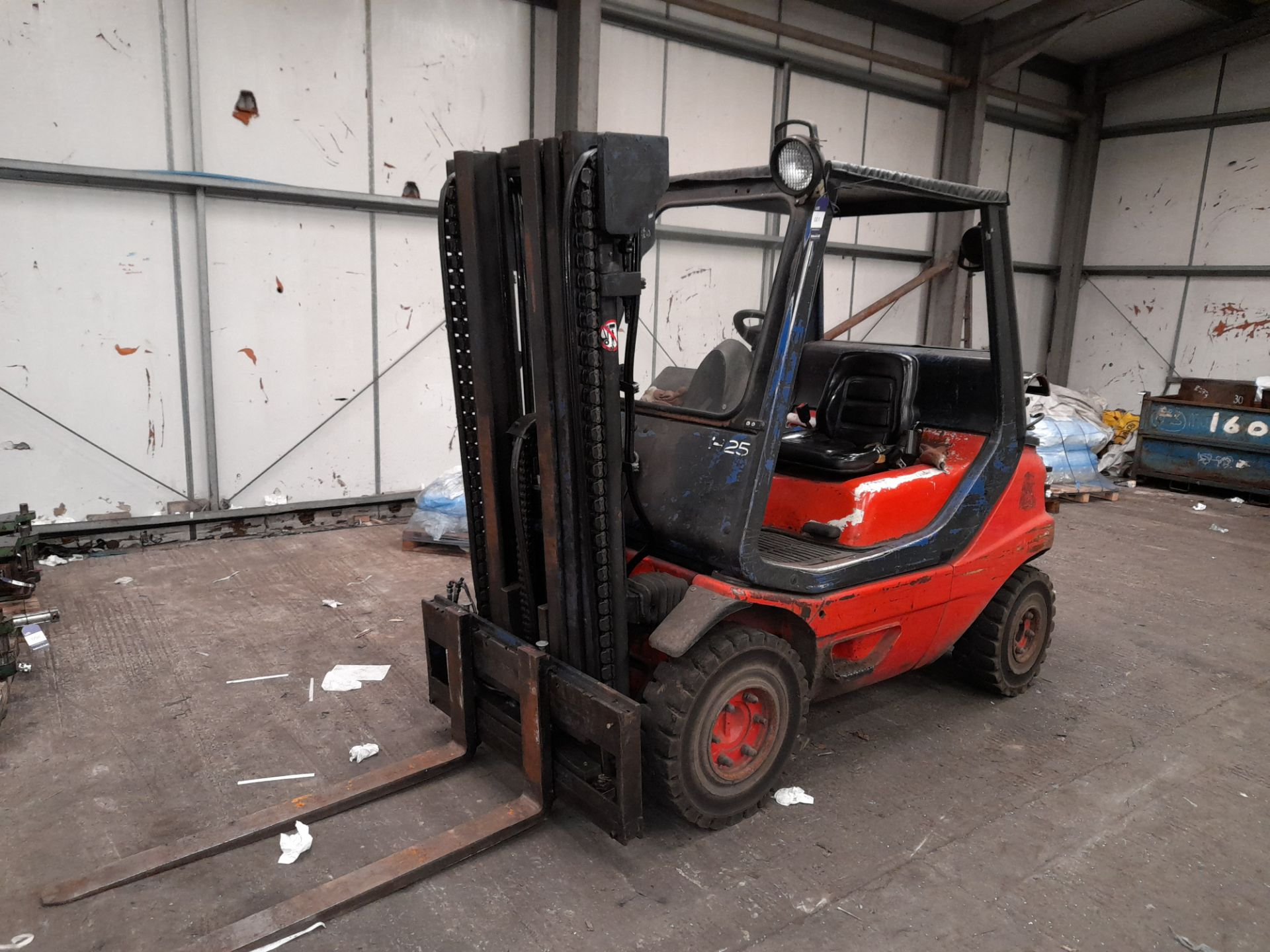 Linde H25T-02 LPG Forklift Truck, 2500kg Capacity, Triple Mast, Side Shift, Lift Height 3925mm,