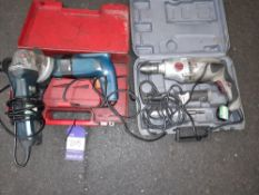 3 Various Hand Drills to Cases, 240v with 4in Angl