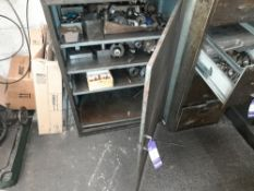 Steel Single Door Cabinet with Contents, inc. Various Machine Tooling