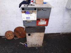 Steel Single Door Cabinet with Contents and 4-Draw