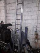 Aluminium Double Extension Ladder, 24-rung