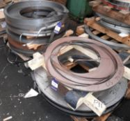 Quantity of Various Steel/Stainless-Steel Strip, to 2 Pallets, approx. 1000 Kg