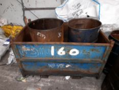 Steel Fabricated Stillage with 5 Open Top Oil Drums