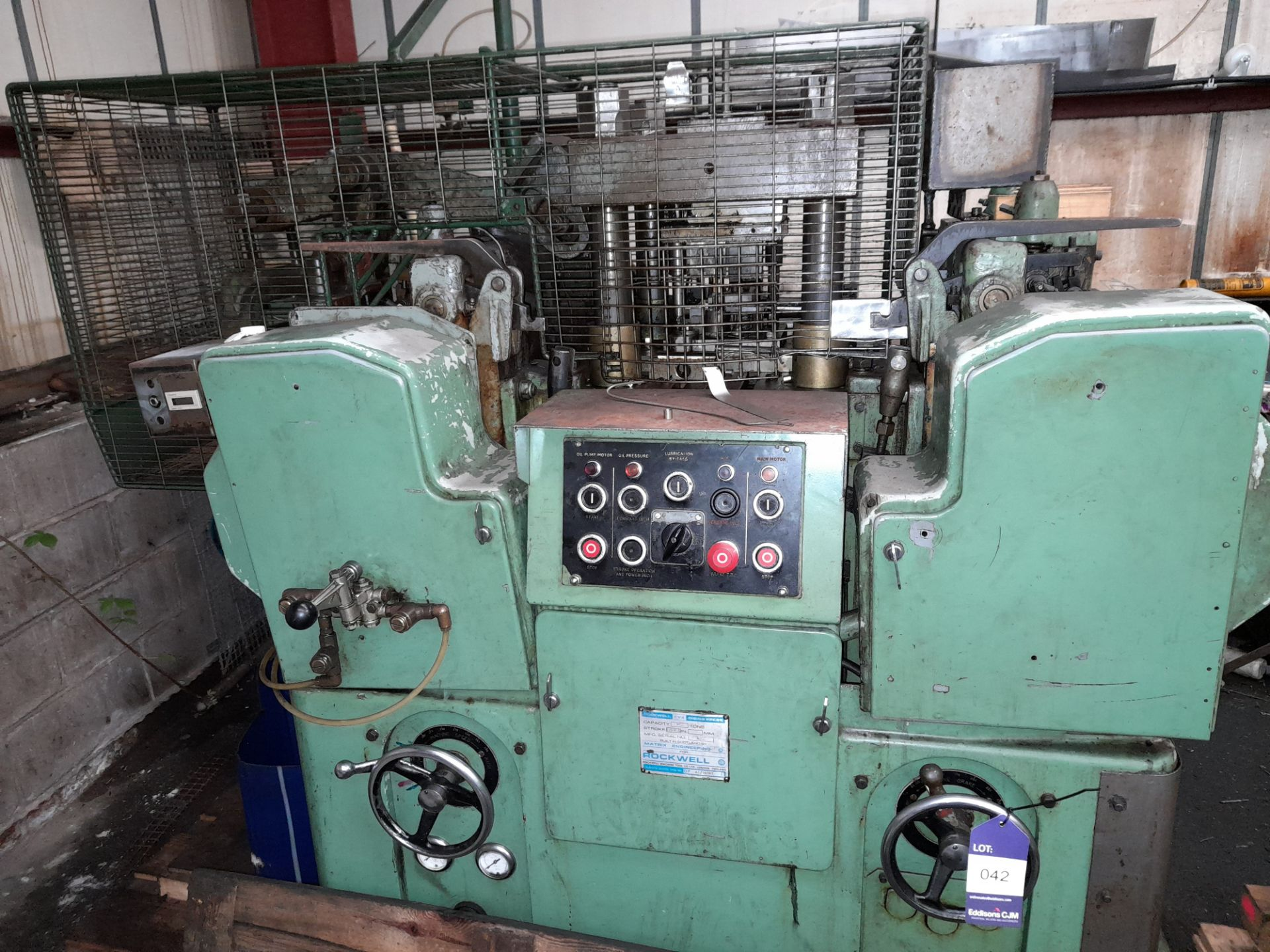 80 Rockwell 25 Ton DP MT/188T Multi Slide Forming Press with 10mm Raschig Ring Tool - Image 2 of 9