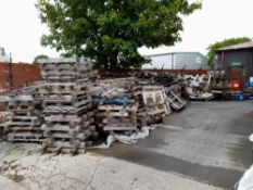 Large Quantity of Wooden Coil Pallets