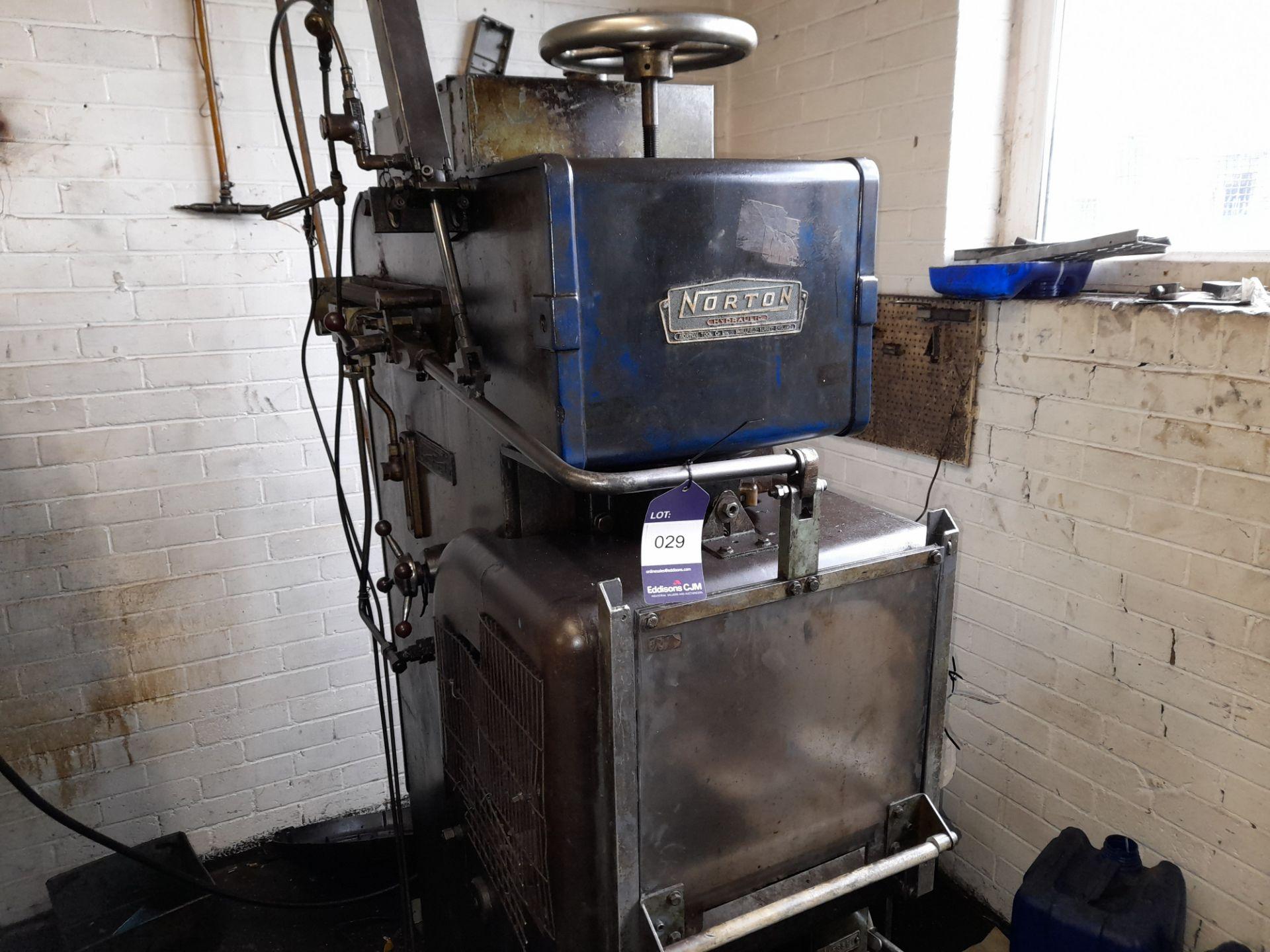 Norton Hydraulic Down Stroking Press, S/n B169581 - Image 2 of 5