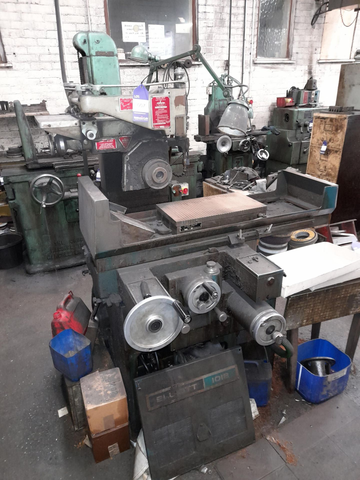 Elliott 1018 Surface Grinder with Magnetic work piece table, S/n 2814/5/2 - Image 2 of 7