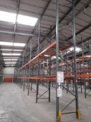 24 bays of DEXION industrial pallet racking, heigh