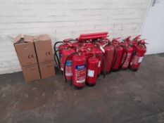 Quantity of fire extinguishers, as lotted