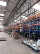 39 bays of DEXION industrial pallet racking, heigh