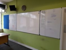 Quantity of noticeboards & whiteboards, approx. 6