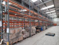 50 bays of DEXION industrial pallet racking, heigh