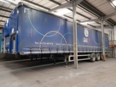 SDC 44' triaxle curtain side trailer with barn doo