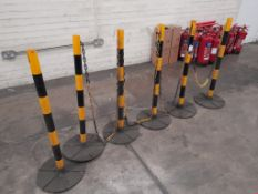 Quantity of safety barrier – circa 6 posts & 1 chain