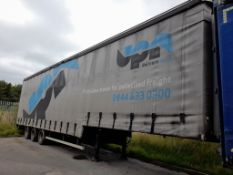 SDC Double deck curtain side trailer, trailer numb