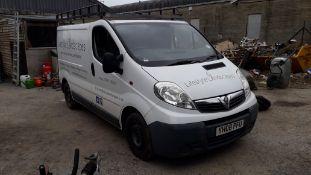 Vauxhall Vivaro Panel Van, Registration YH08 PFU,