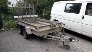 Buffalo BT59X4165PT Twin Axle Galvanised Trailer, 2,600Kg, Loading Ramp Serial Number