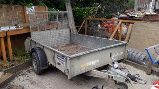 Ifor Williams EX11 1400kg Galvanised Steel Single Axle Trailer, Serial Number SCK20000040405838