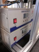 Face mask making machine, year 2020 Consisting of;- 3 roll infeed - Inline material folder - welding