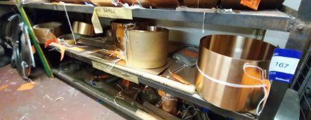 Contents to Shelf to Include Quantity of Various Beryllium Copper Strip