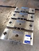 4x Various Stainless Steel Manual Press Beds Adapter Plates
