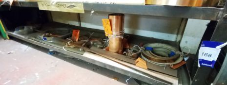Contents to Shelf to Include Quantity of Various Hard Copper Strip