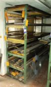 Contents of Stock to Rack to Include Quantity of Various Length Steel Plates