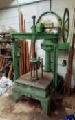 Steel Fabricated Manual Press with Avery Scale 2,000lb Capacity