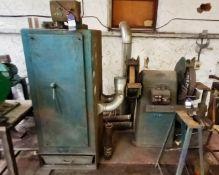 Lumsoek Model: 702. Twin Wheel Heavy Duty Pedastal Grinder with Extractor