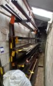Quantity of Various Flat Bar to Stock Rack to Stock Room