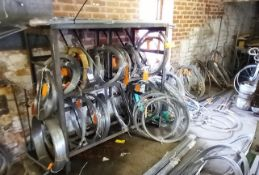 Large Quantity of Various Stainless Steel Wire Stock to Rack and Wall