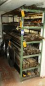Contents of Stock to Rack to Include Quantity of Various Length Steel Plates and Strip Lengths