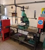 Norton 6BD Manual Fly Press with Work Bench