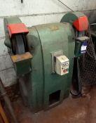 Thomas Mitchell & Sons Ltd Twin Wheel Heavy Duty Duty Pedastal Grinder